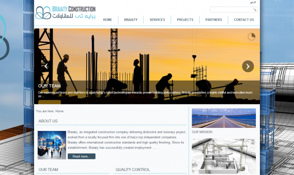 Braiaty construction Website