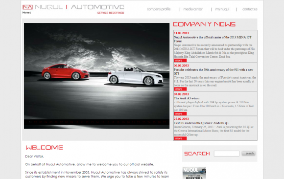 Nuqul Automotive website