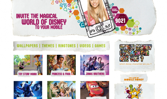 Disney Honey website