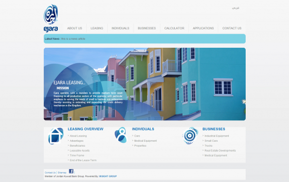 Ejara Leasing Website
